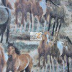 Riding Horses Wholesale Fleece Fabric