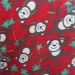 Wholesale Monkey Fleece Fabric Red Vine
