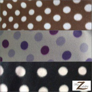 Wholesale Polka Dot Fleece Fabric