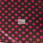 Wholesale Polka Dot Fleece Fabric Brown Hot Pink Dots