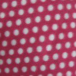 Wholesale Polka Dot Fleece Fabric Dark Pink Small White Dots