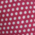 Wholesale Polka Dot Fleece Fabric Dark Pink Small White Dots