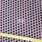 Wholesale Polka Dot Fleece Fabric Pink Black Dots