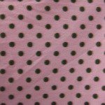 Wholesale Polka Dot Fleece Fabric Pink Brown Dots