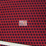Wholesale Polka Dot Fleece Fabric Red Black Dots