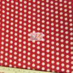 Wholesale Polka Dot Fleece Fabric Red White Dots