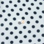 Wholesale Polka Dot Polar Fleece Fabric White/Black