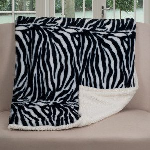 Zebra Fleece Fabric Blanket