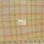 Wholesale Tartan Plaid Fleece Fabric Beige