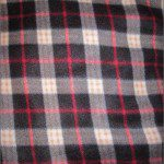 Wholesale Tartan Plaid Fleece Fabric Black