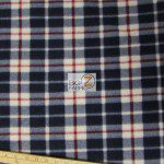 Wholesale Tartan Plaid Fleece Fabric Blue