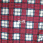 Wholesale Tartan Plaid Fleece Fabric Dark Red Cream Gray