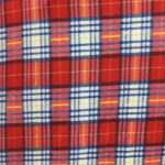 Wholesale Tartan Plaid Fleece Fabric Forest Two Tone Red