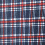 Wholesale Tartan Plaid Fleece Fabric Red Blue White
