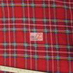 Wholesale Tartan Plaid Fleece Fabric Red