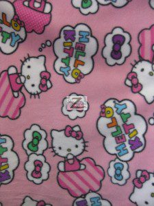 Clouds & Bows Hello Kitty Fleece Fabric