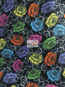 Licensed Folkloric Roses Fleece Fabric