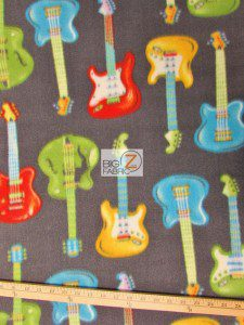 Nice Guitar Fleece Fabric