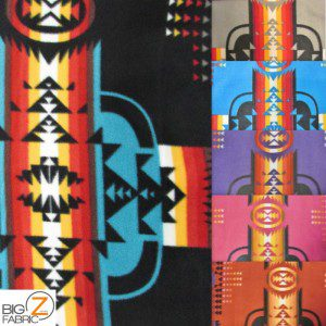 Aztec Indian Navajo Polar Fleece Fabric