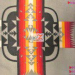 Aztec Indian Navajo Polar Fleece Fabric Gray