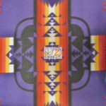 Aztec Indian Navajo Polar Fleece Fabric Purple
