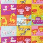 Baby Animal Fleece Fabric Abc Zoo Animals