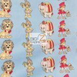 Baby Animal Fleece Fabric Circus Play Time