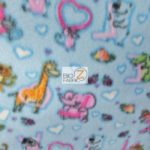 Baby Animal Fleece Fabric Love Animals