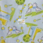 Baby Animal Fleece Fabric Zebra & Giraffe