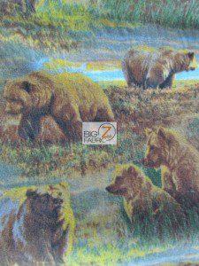 Bears In The Wild Fleece Fabric