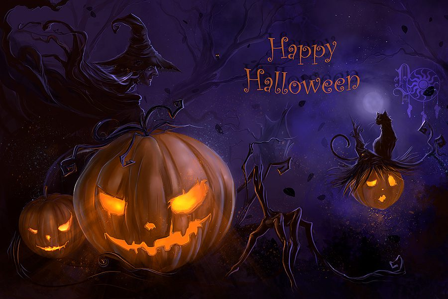 Happy Halloween From Big Z Fabric Fleece Collection