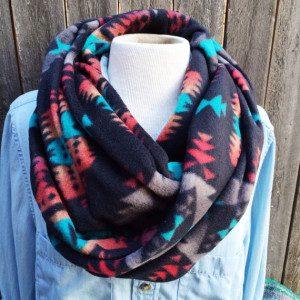 Indian Print Fleece Fabric Wrap Scarf