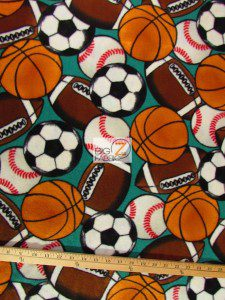Multi Sports In The Game Fleece Fabric