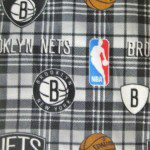 NBA Polar Fleece Fabric Brooklyn Nets