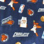 NBA Polar Fleece Fabric Charlotte Bobcats
