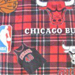 NBA Polar Fleece Fabric Chicago Bulls
