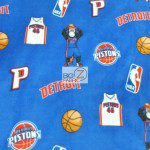 NBA Polar Fleece Fabric Detroit Pistons