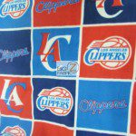 NBA Polar Fleece Fabric Los Angeles Clippers