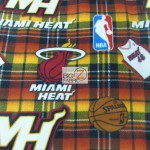 NBA Polar Fleece Fabric Miami Heat