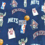 NBA Polar Fleece Fabric New Jersey Nets