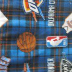 NBA Polar Fleece Fabric Oklahoma City Thunder