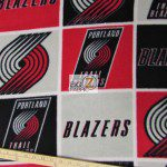 NBA Polar Fleece Fabric Portland Trail Blazers