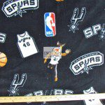 NBA Polar Fleece Fabric San Antonio Spurs