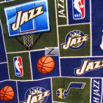 NBA Polar Fleece Fabric Utah Jazz