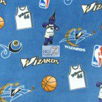 NBA Polar Fleece Fabric Washington Wizards