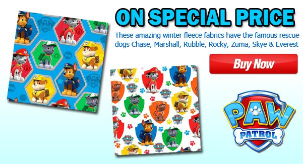 PAW Patrol Fleece Fabric Huge Sale