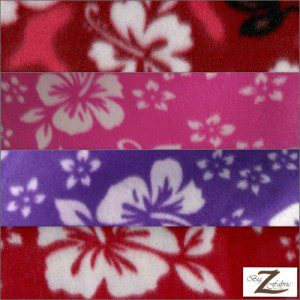 Wholesale Flower Hawaiian Fleece Fabric