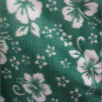Wholesale Flower Hawaiian Fleece Fabric Green