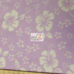 Wholesale Flower Hawaiian Fleece Fabric Lavender