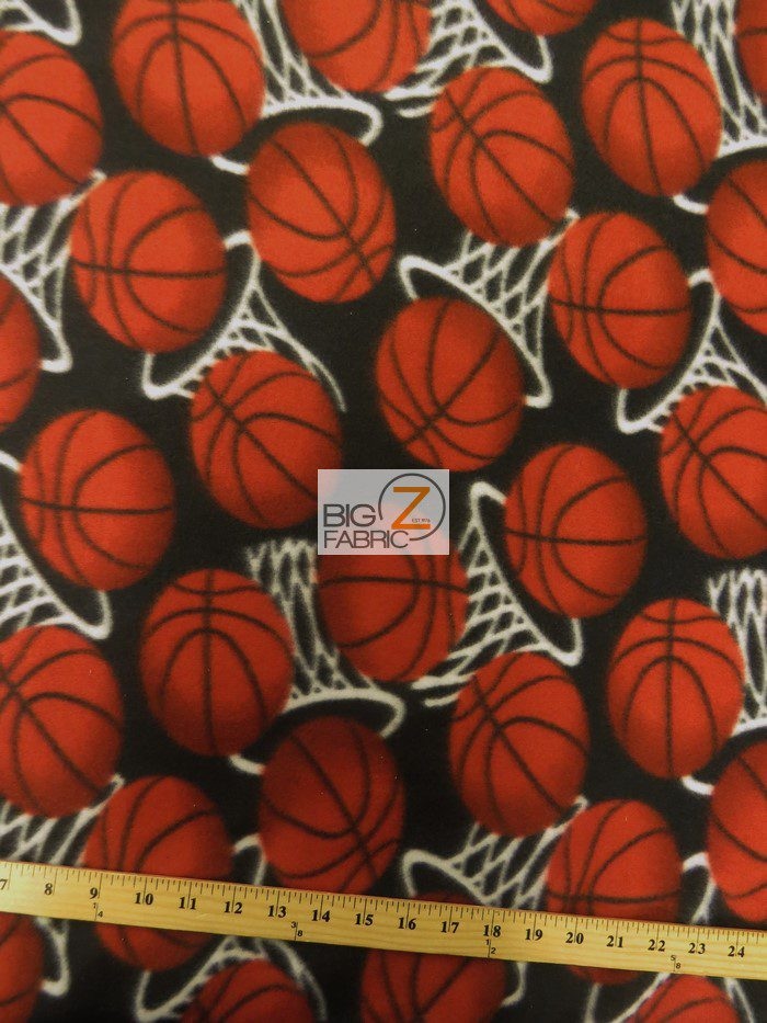 Basketball Polar Fleece Fabric Hoops